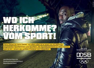"Rotation aktiver Teil der DOSB-Maßnahme / Kampagne ""Integration durch Sport"""