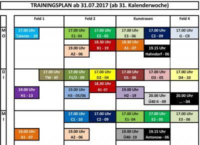 Sommer-Ferien-Trainingsplan & Trainingsplan NEU Online! Vereinsruhe!