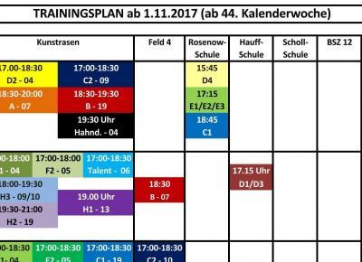 Winter-Trainingsplan ab 1.11.17