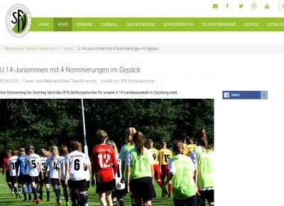 4 sächsische Nominierungen für DFB-Sichtungen und ein Mädel von uns dabei!